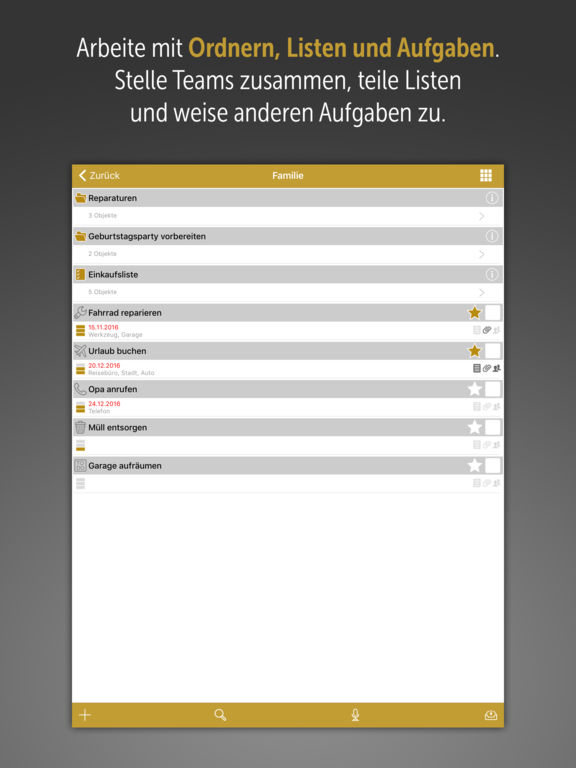 Tasks4Life für iPad Screenshot