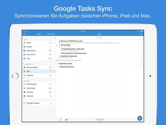 gTasks Pro Aufgaben-Manager für Google Task GMail Screenshot