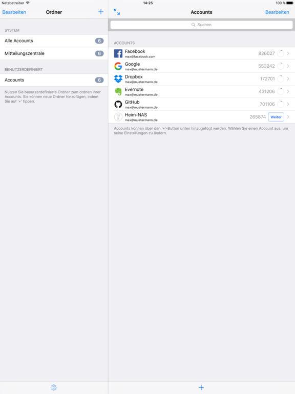 OTP Auth - 2-Schritte-Bestätigung für Pros Screenshot