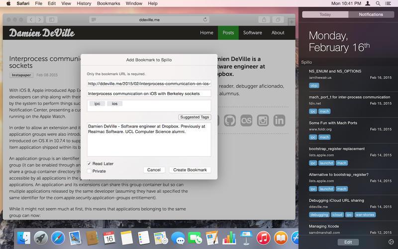 Spillo for Mac 1.9.3 破解版 - 优秀的Pinboard书签管理工具