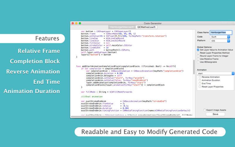 QuartzCode for Mac 1.63.0 注册版 - 优秀的iOS动画编程工具