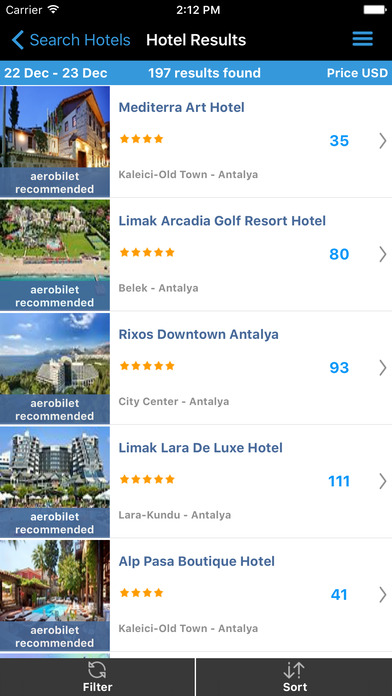 Aerobilet - Flights, hotels, transfers Screenshot