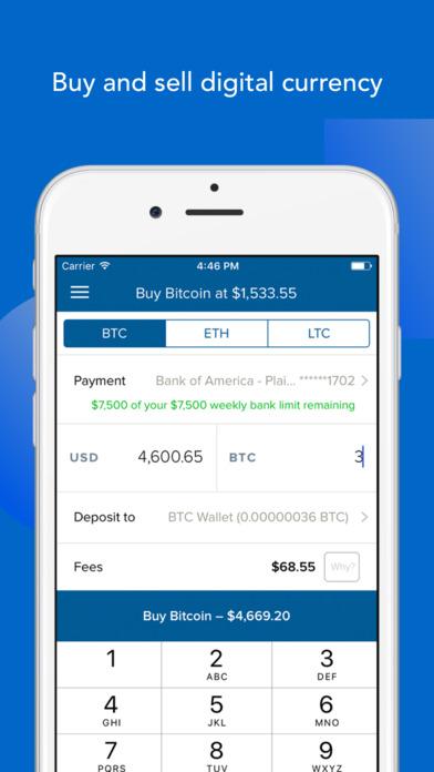 Coinbase Order Screen