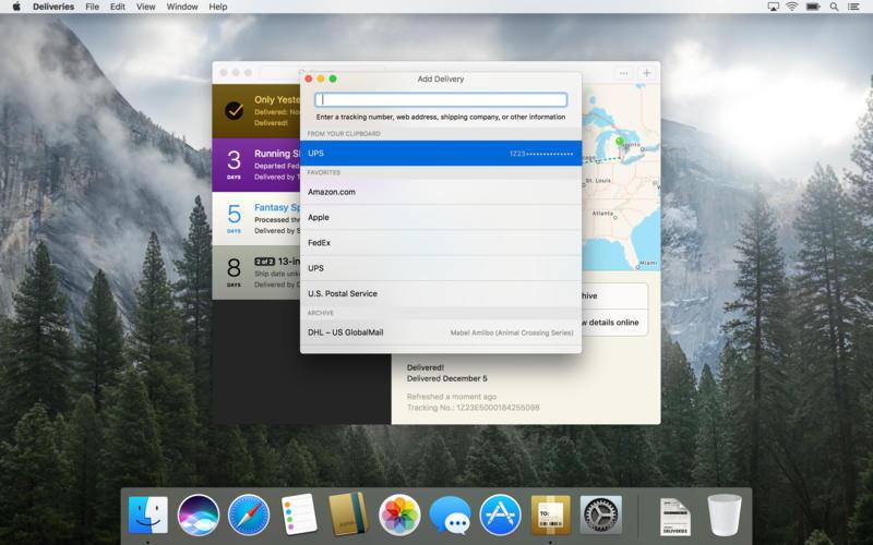 Deliveries for Mac 3.0 激活版 - 邮包快递查询跟踪器
