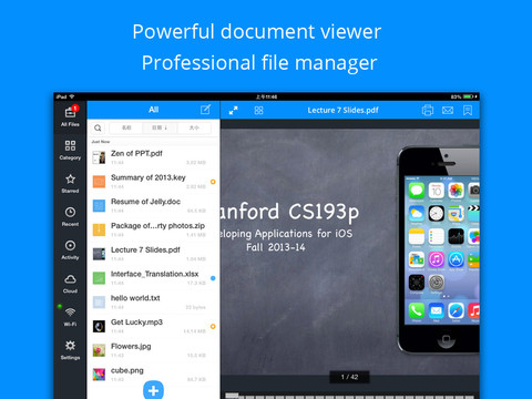 Briefcase Pro - File manager, cloud drive, document & pdf reader and file sharing App iPad