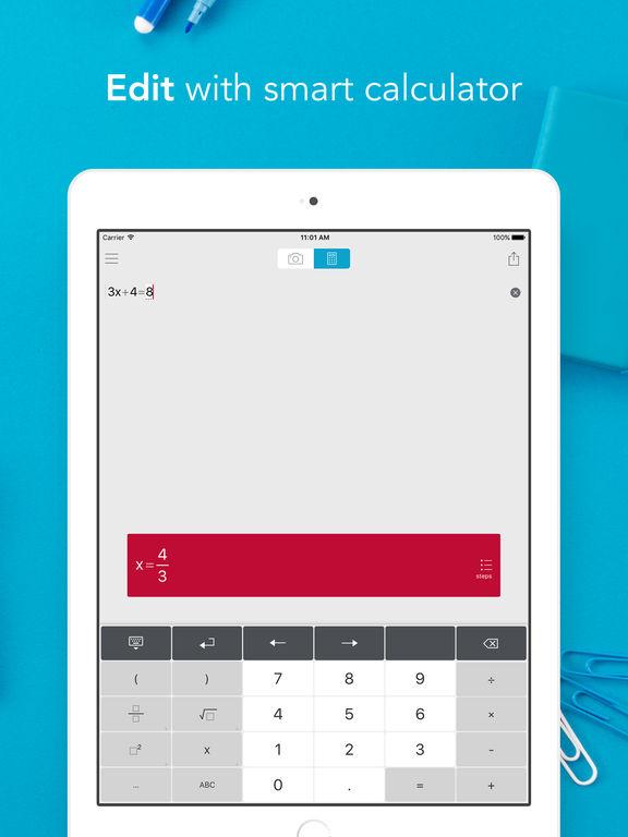 Photomath - Camera Calculator Screenshot