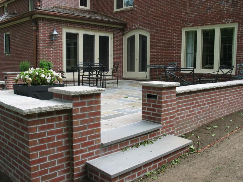 edan stone cap frameing bluestone patio