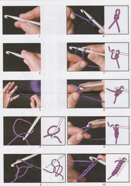 Inicio En Tejido Crochet : Cómo hacer nudo corredizo y cadeneta