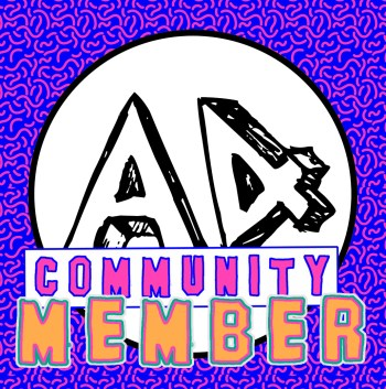 A4 community member button