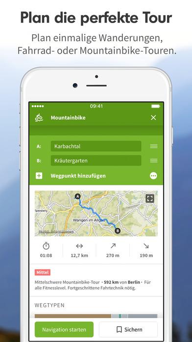 Komoot - Fahrrad & Wander Guide Screenshot