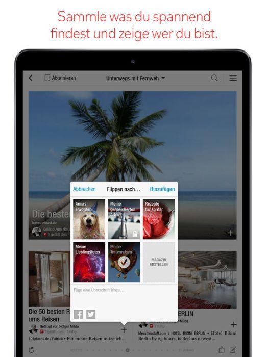 Flipboard: Ein Ort für all' deine Interessen Screenshot