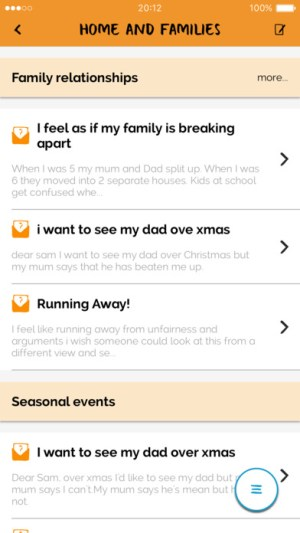 For Me By Childline View More by This Developer Open iTunes to buy and download apps. Description Wherever you are and whatever life throws at you, Childline is now easier to access than ever before. 'For me' is the brand new way to get advice and support on loads of topics – from issues that can play a big part in everyone's life, like school and exam stress, through to extremely personal issues, such as self-harm and mental health. We're here for you, whatever's on your mind. And you're in control: whether you prefer to talk it through with one of our trained counsellors, get help online from people your own age, or read through tips and techniques in your own time, with 'For Me', the choice is yours. • Get access to self help advice and support on a huge range of issues • Watch videos to help you feel better • Create your own mood tracker and have your own private locker space that's just for you • Chat to other young people about whatever you want on our lively and supportive message boards • Call, or email a Childline counsellor ...More Childline Web SiteFor Me Support What's New in Version 1.01 1-2-1 chat with a counsellor