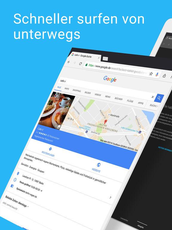 Chrome – der Browser von Google Screenshot