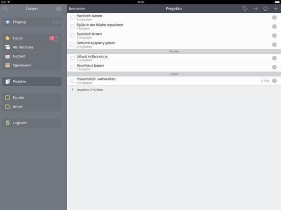 Things for iPad Screenshot