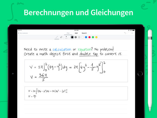 MyScript Nebo - Notizen für Apple Pencil Screenshot