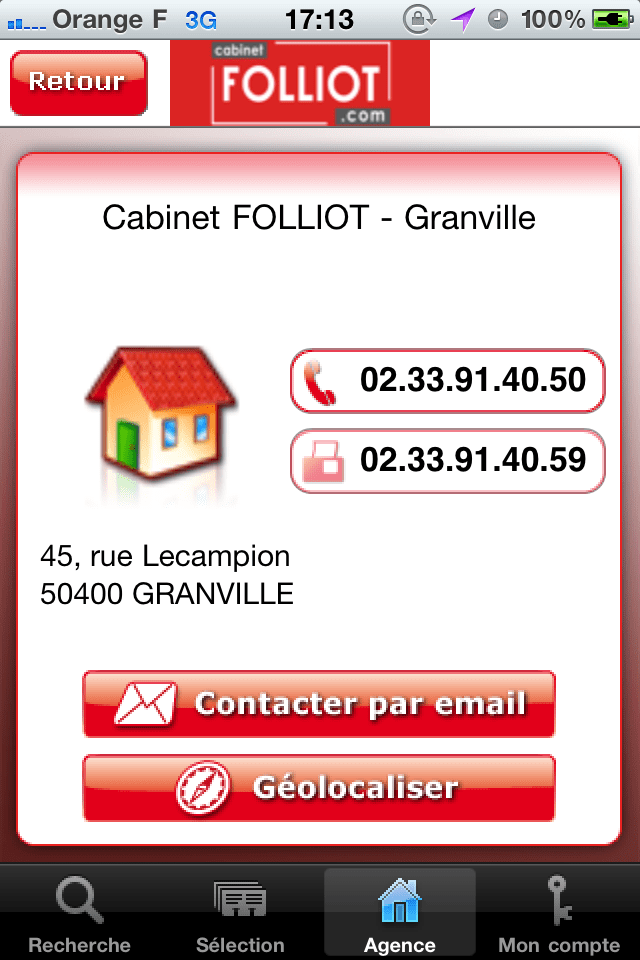 Cabinet Folliot IPhone Utilities Apps By AC3 Distribution