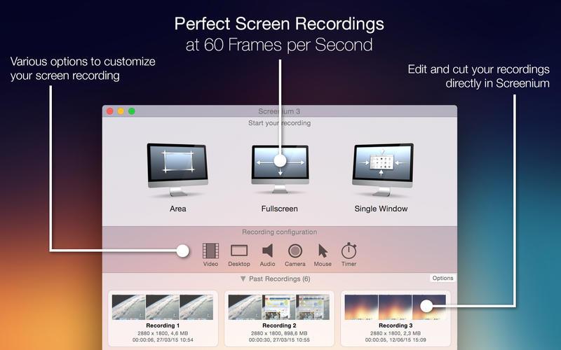 Screenium 3 for Mac 3.1.3 激活版 - 优秀的屏幕录像工具
