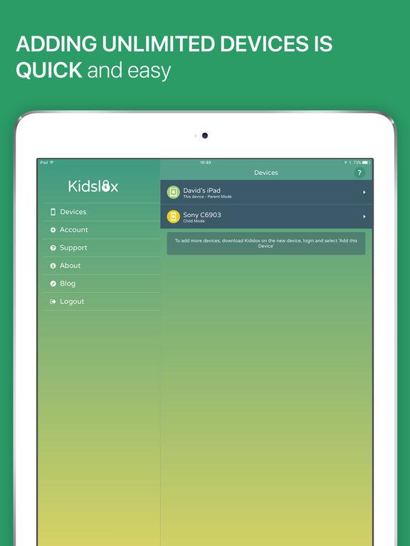 Kidslox Screen Time Parental Control iPad