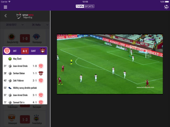 beIN SPORTS TR Screenshot