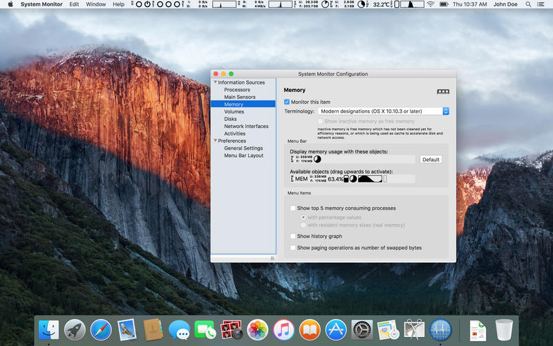System Monitor 2.7 Mac 破解版 - 优秀的系统监控工具