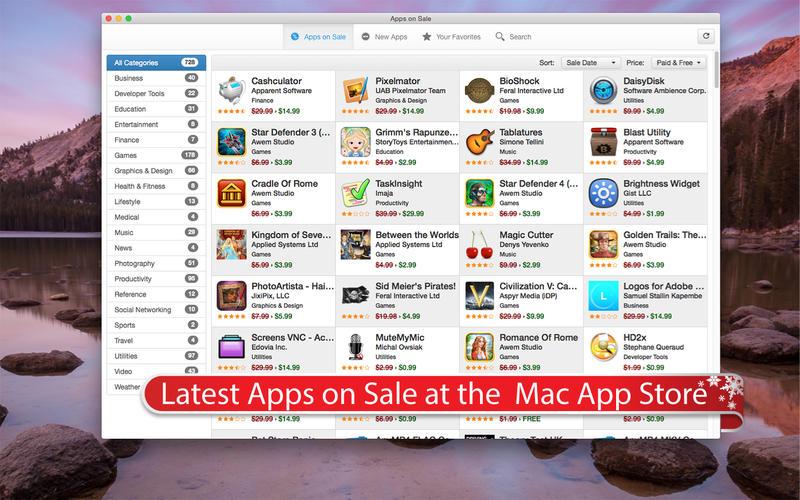 Apps On Sale for Mac 2.1 破解版 - Mac App Store在线销售跟踪