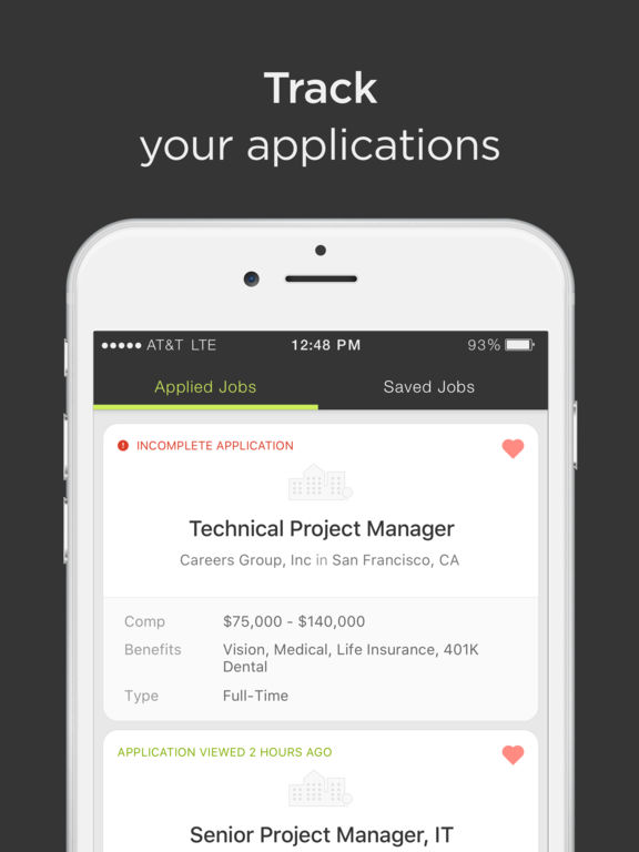 review your applied jobs list job searching saves you time