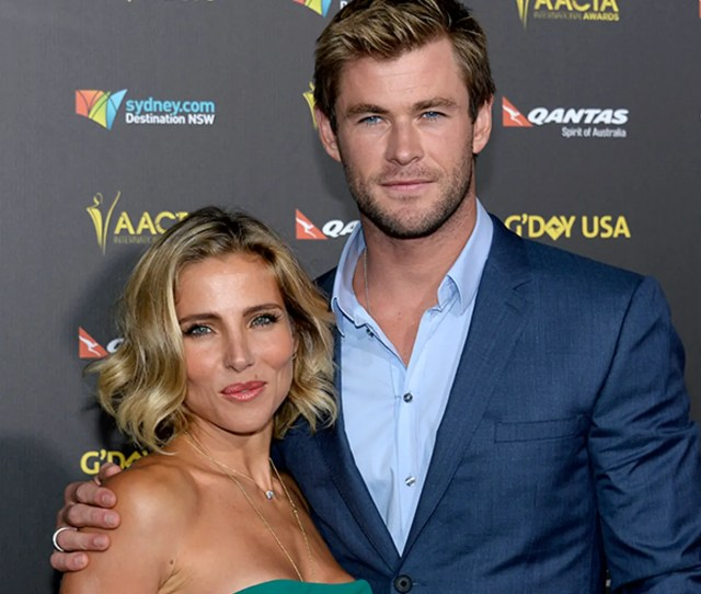Actor Chris Hemsworth And Wife Elsa Pataky At The Hollywood Palladium In Los Angeles California