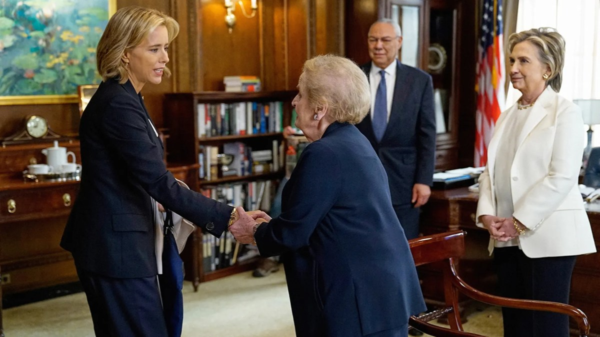 Former Secretaries of State Hillary Clinton, General Colin Powell and Madeleine Albright joined appeared on the Season 5 premiere of 'Madam Secretary.'