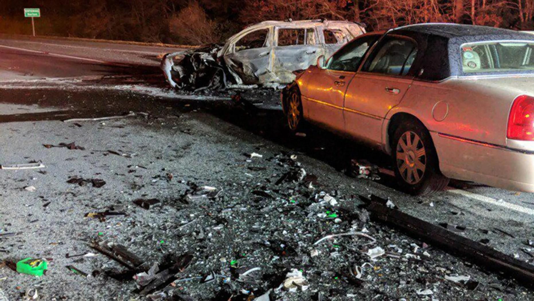 State Police spokesman Dave Procopio said the crash happened around 11:30 p.m. Wednesday on Interstate 495 in Taunton.