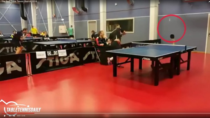 Christopher Chen, from the Trondheim Table Tennis Club in Norway, pulled off an incredible return. The 15-year-old is now a viral sporting star after that paddle hoist instantly became the most impossible table tennis highlight of the decade.