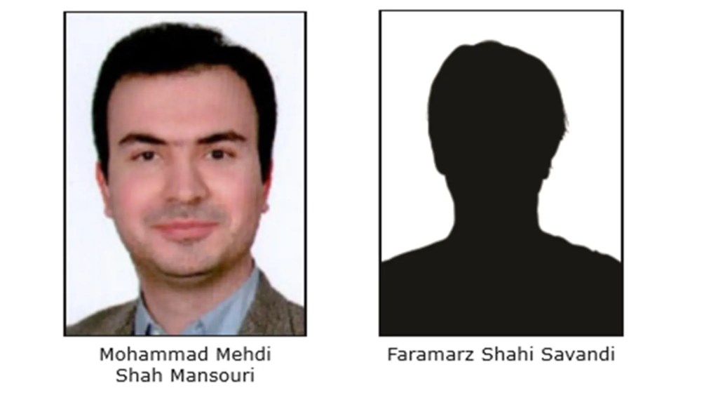 Mohammad Mehdi Shah Mansouri and Faramarz Shahi Savandi are alleged to have hijacked and shut down victims' computer systems until the victims paid a ransom.