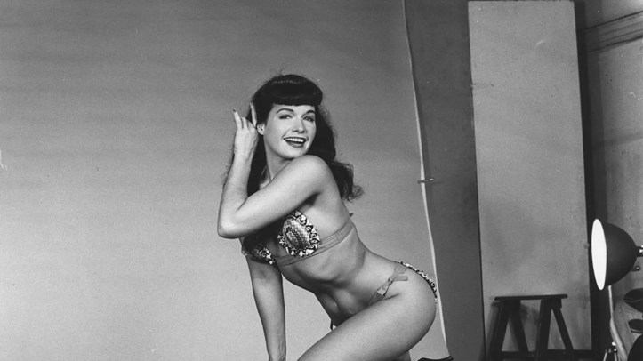 Bettie Page in the 1950s.