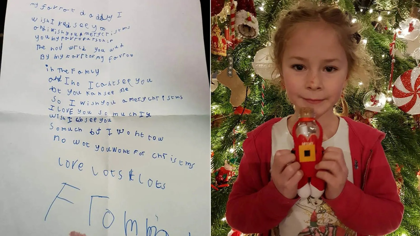 Madison received a letter from the Royal Mail assuring her that the Christmas note to her dad in heaven had been safely delivered.