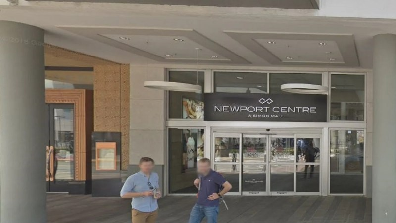 The entrance to the Newport Centre Mall in Jersey City, N.J., where a shooting occurred Friday.