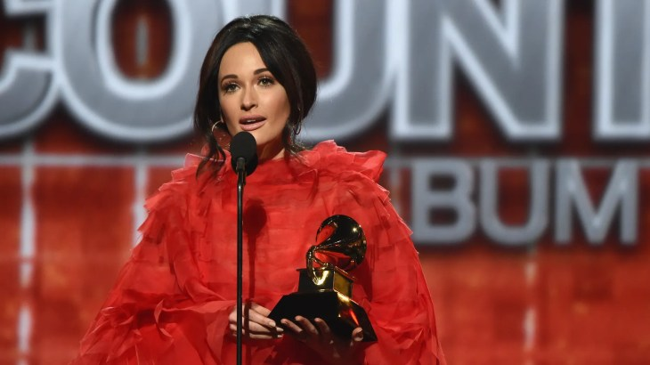 Kacey Musgraves, who took home four Grammys on Sunday including Album of the Year, spoke to reporters backstage on if she thinks her Grammy wins will help get her music on the radio.