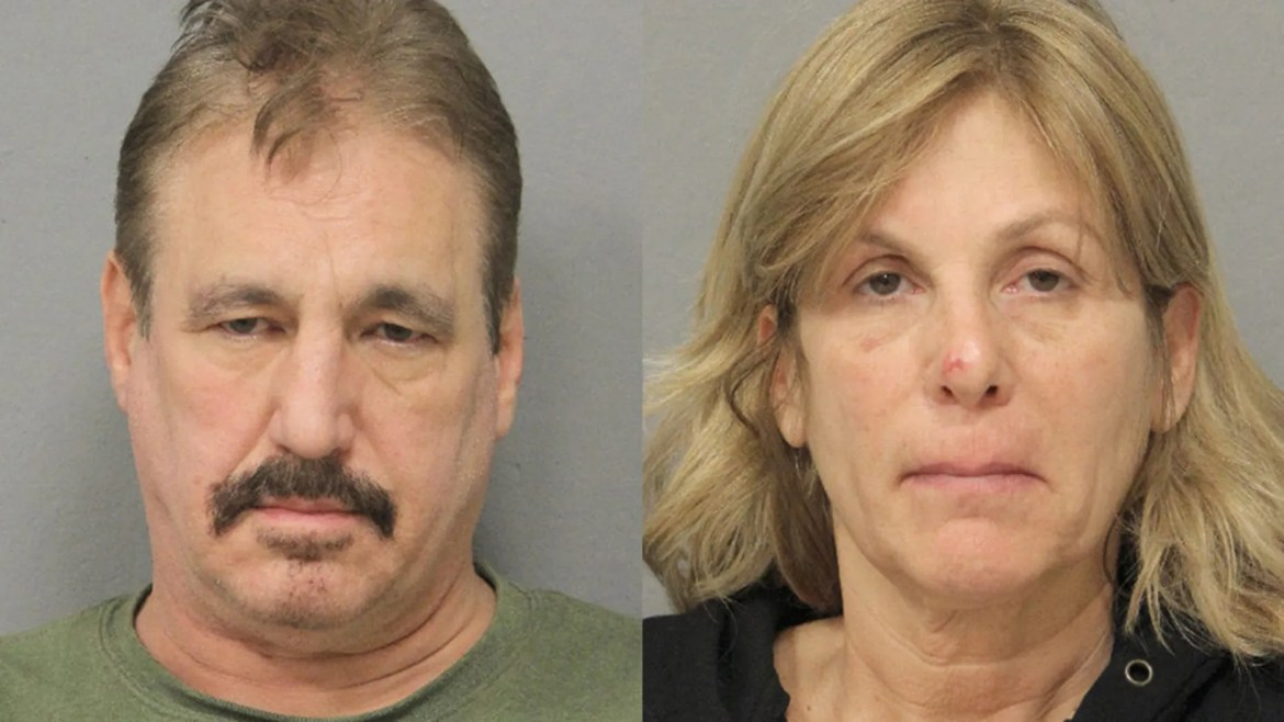 Kenneth Riggio, 59, and his wife, Faith Riggio, 53, have been hit with multiple drug charges after police discovered a large stash of drugs and cash at their home, which is located across the street from an elementary school