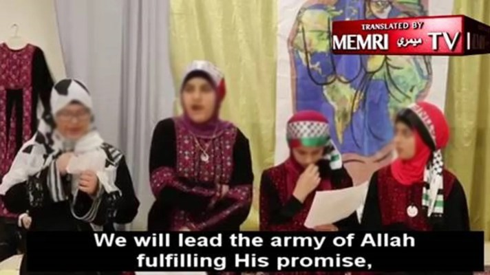 The Philadelphia Muslim Society posted a video of children saying they would chop off heads, sacrifice for the Al-Aqsa Mosque and Allah.