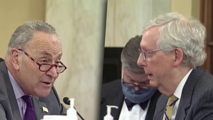 Schumer, McConnell Square Closed During Voting Rights Hearing