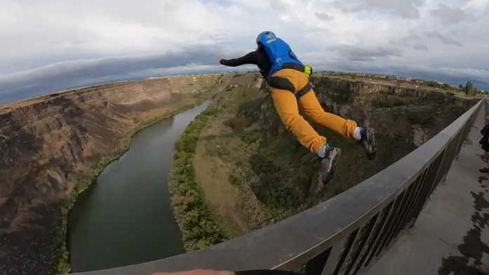 Idaho Base jumpers rebuff regulation, control fear when leaping off 500 foot bridge
