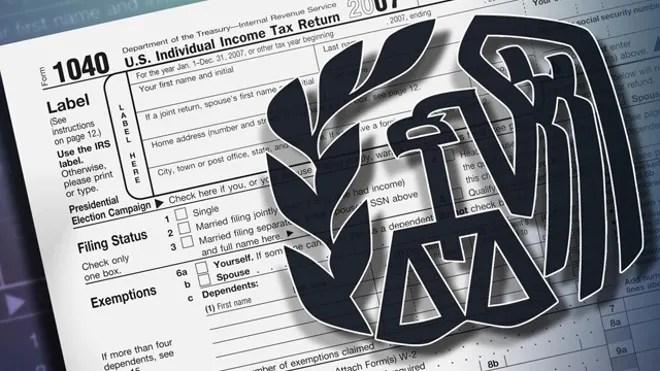 IRS logo tax 1040 form