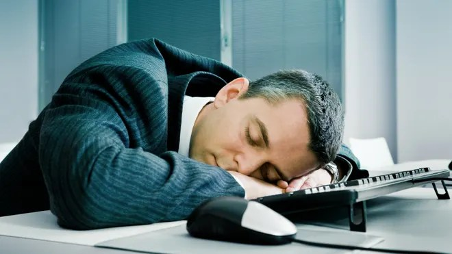 Man Sleeping in Work, 2 hours sleep, sleep is for the weak, daytime sleeping, no sleeping, people sleeping, sleep