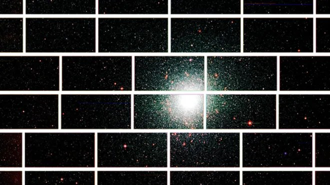 This zoomed-in image from the Dark Energy Camera of the center of the globular star cluster 47 Tucanae, which lies about 17,000 light years from Earth. (Dark Energy Survey Collaboration)