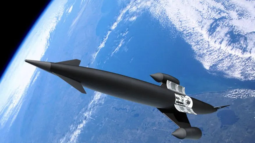 This artist's illustration depicts the Skylon concept vehicle. (Adrian Mann)