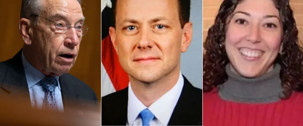 Redacted Strzok-Page message reads Obama 'White House is running this'; Grassley wants answers