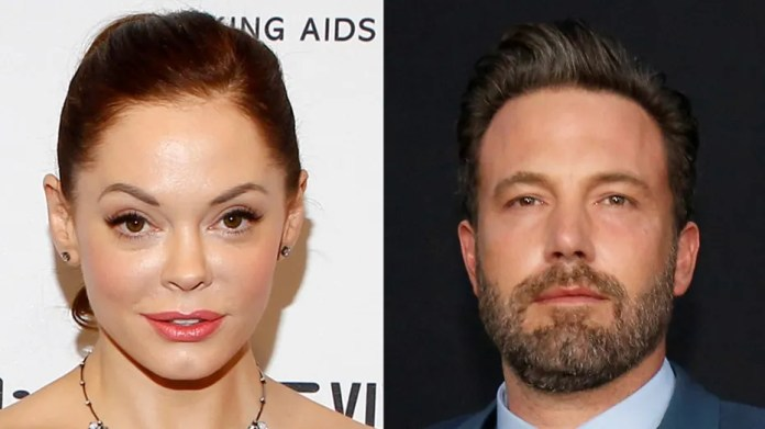 Actress Rose McGowan accused Ben Affleck of knowing about Harvey Weinstein's sexual misconduct all along.