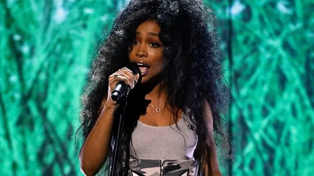 In this June 25, 2017 file photo, SZA performs at the BET Awards in Los Angeles. SZA was nominated for five Grammy nominations on Tuesday, Nov. 28.