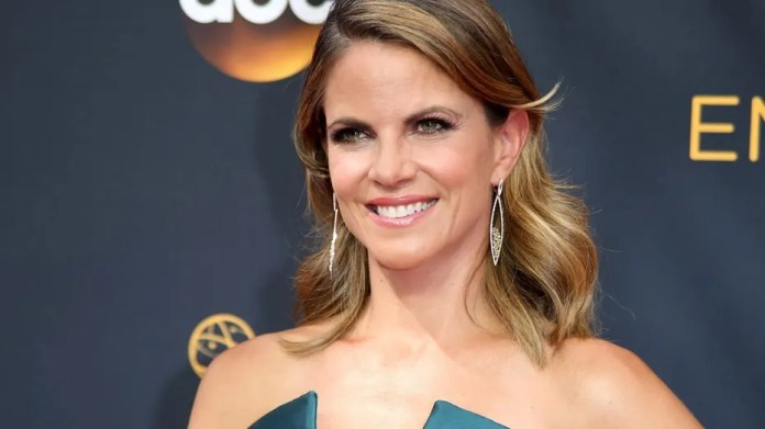 """FILE: Natalie Morales, who took over for Billy Bush on NBC's """"Access Hollywood,"""" told People that she was """"in shock"""" after learning about Matt Lauer's firing."""