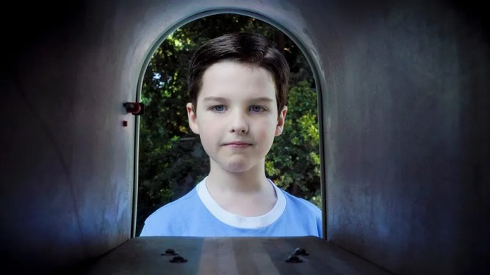 """""""A Patch, a Modem, and a Zantac"""" - Pictured: Sheldon (Iain Armitage). When a NASA representative visits Sheldon's school and dismisses his science, Sheldon is set on a mission to prove him wrong, on YOUNG SHELDON, Thursday, Nov. 30  (8:31-9:01 PM, ET/PT) on the CBS Television Network Photo: Richard Cartwright/CBS ©2017 CBS Broadcasting, Inc. All Rights Reserved."""