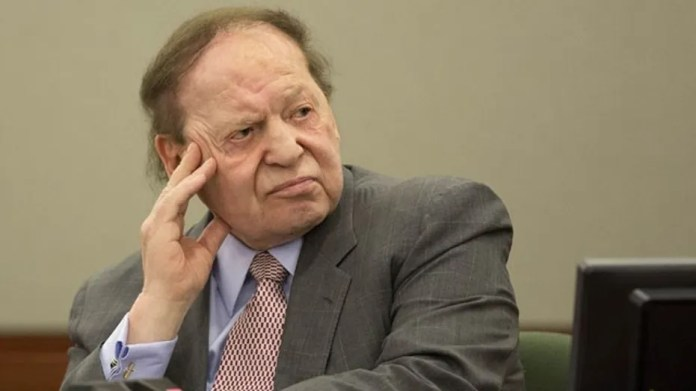 April 5, 2013: Las Vegas Sands Corp. CEO Sheldon Adelson testifies in Clark County district court in Las Vegas.