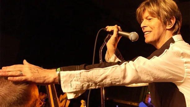 Picture shows_Archive image of David Bowie performing in a BBC concert recorded in September 2002 before an invited audience of 100 people (id number - hi004041306) - From the programme David Bowie Live and Exclusive (R2)